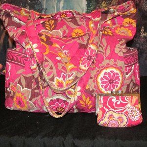 Vera Bradley Bag with Matching coin Purse